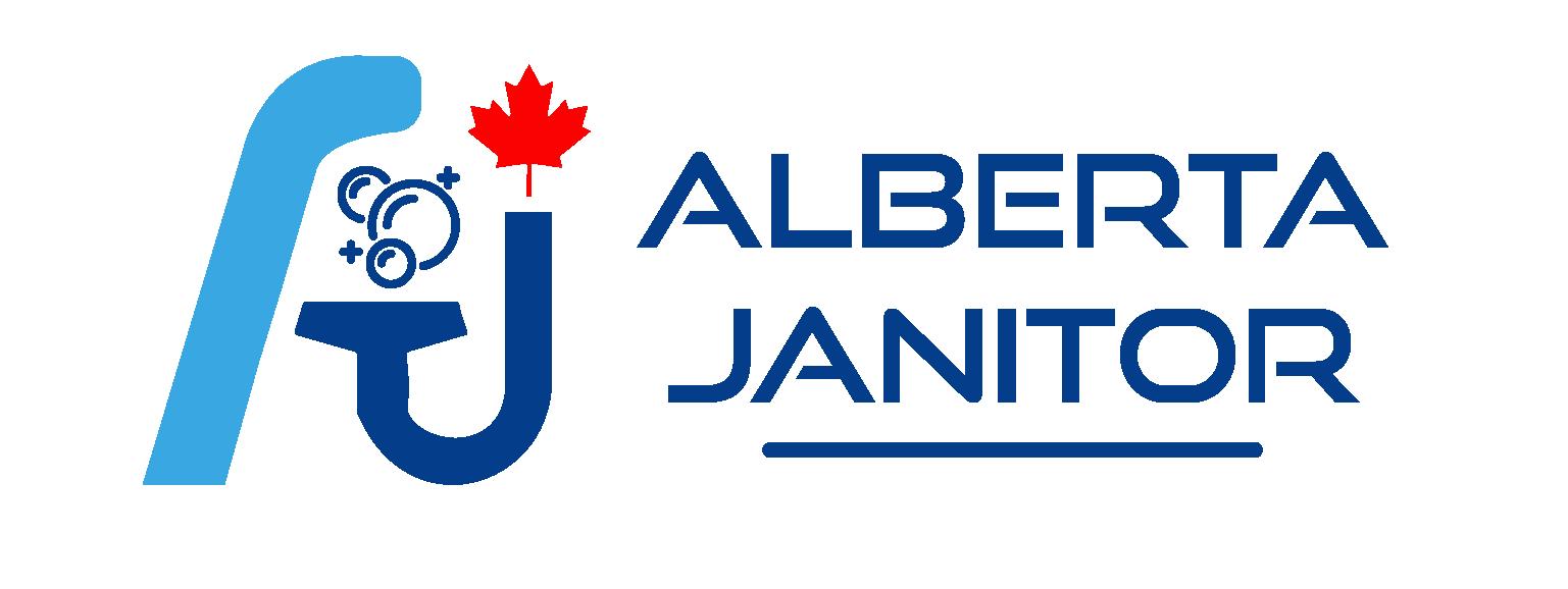 Alberta Janitor Company Logo